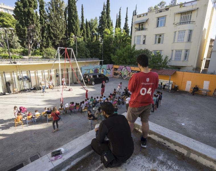 Caravana 'Flores contra el olvido' (Atenas 2017)